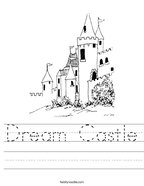 Dream Castle Handwriting Sheet