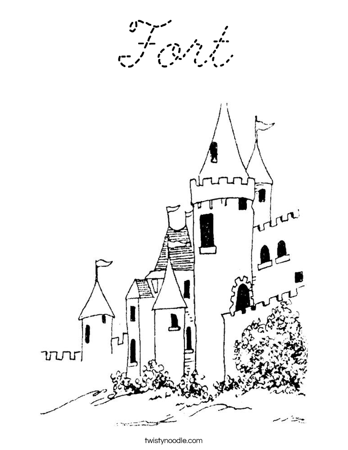 Fort coloring pages for Fort coloring pages