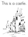 This is a castle.Coloring Page