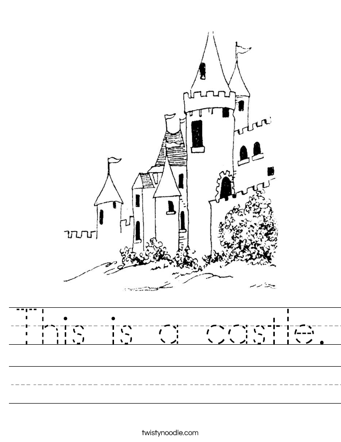 This is a castle. Worksheet