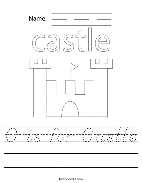 C is for Castle Worksheet