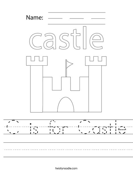 C is for Castle Worksheet