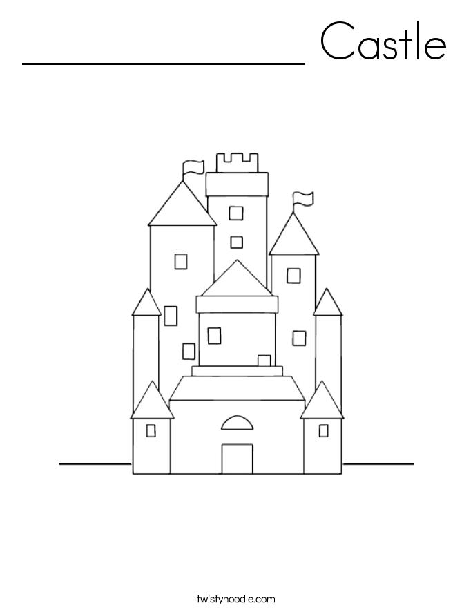 ____________ Castle Coloring Page