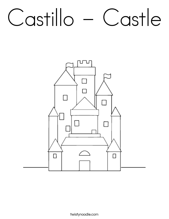 Castillo - Castle Coloring Page
