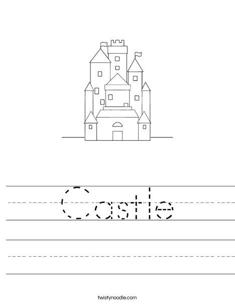Snow White'-s Castle Worksheet - Twisty Noodle