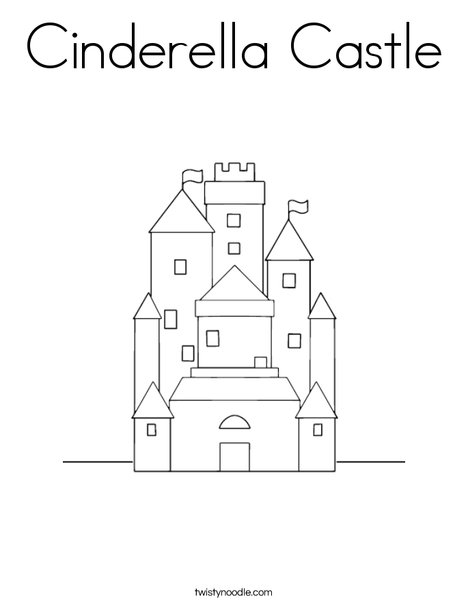 castle coloring page - Castle Coloring Pages