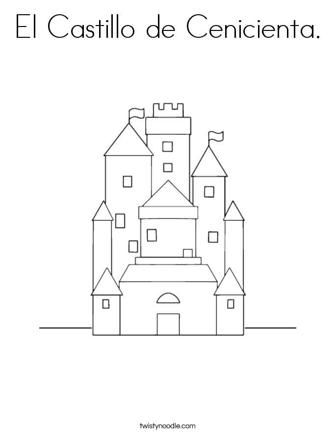 El Castillo de Cenicienta. Coloring Page