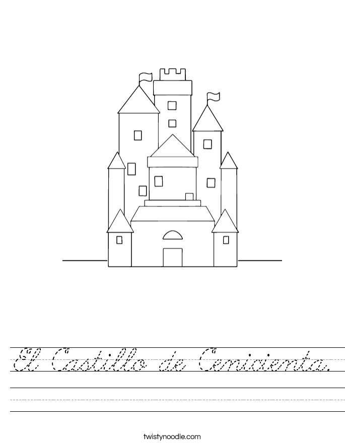 El Castillo de Cenicienta. Worksheet