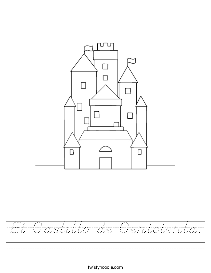 El Castillo de Cenicienta. Worksheet