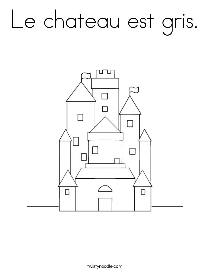 Le chateau est gris. Coloring Page