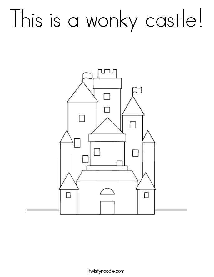 This is a wonky castle! Coloring Page