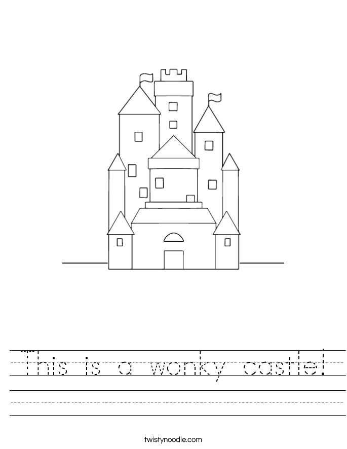 This is a wonky castle! Worksheet