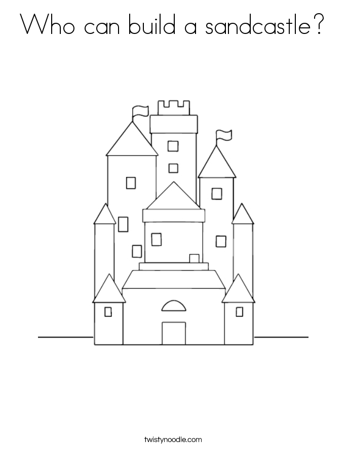 Who can build a sandcastle? Coloring Page