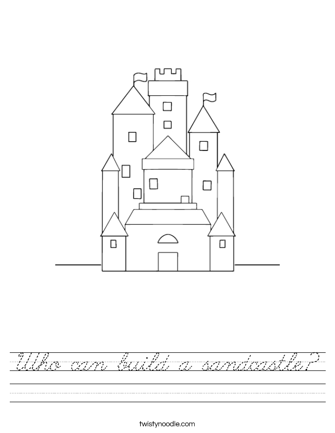 Who can build a sandcastle? Worksheet