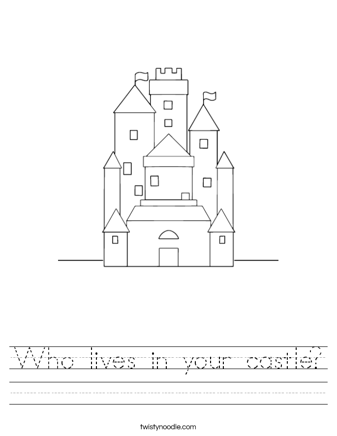 Who lives in your castle? Worksheet