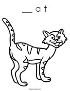 __ a t Coloring Page