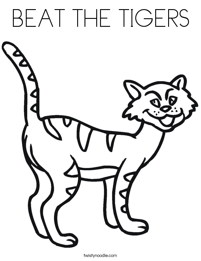 BEAT THE TIGERS Coloring Page