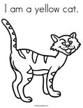 I am a yellow cat. Coloring Page