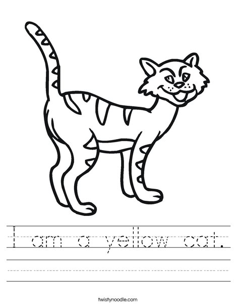 Cartoon Cat Worksheet