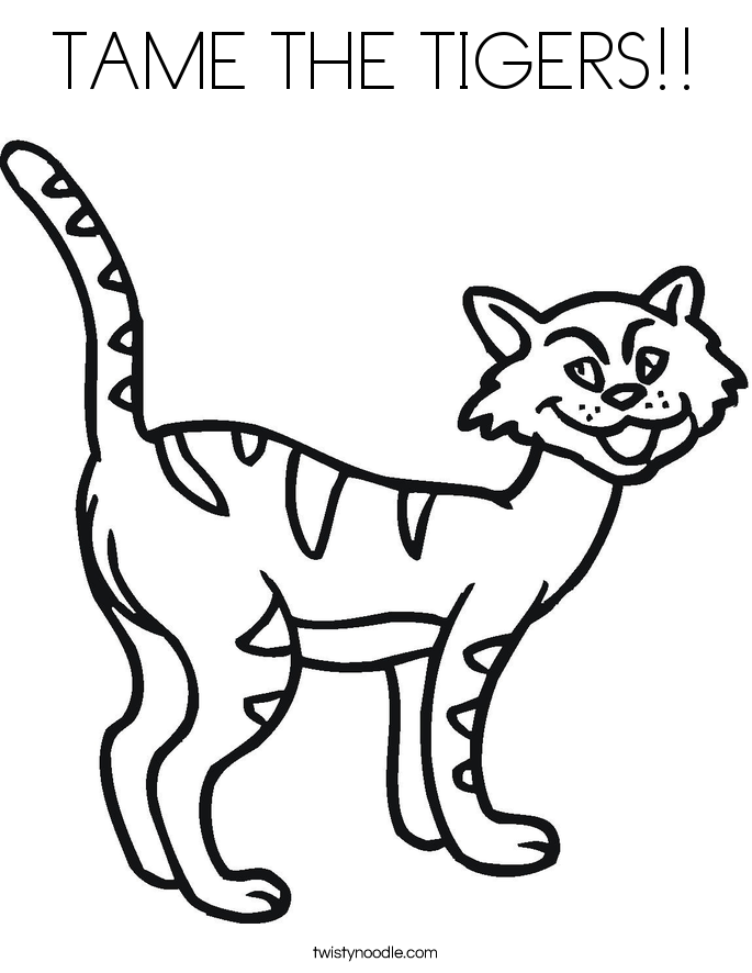 TAME THE TIGERS!! Coloring Page