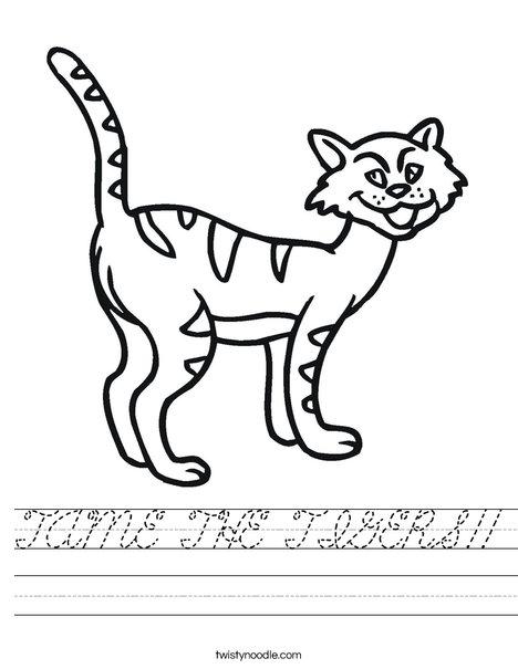 Cartoon Cat Worksheet