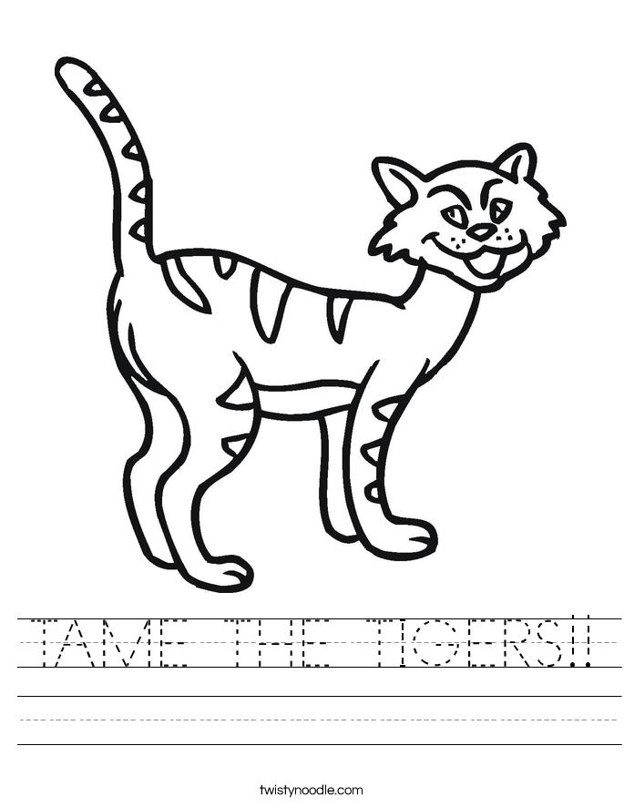 TAME THE TIGERS!! Worksheet