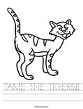TAME THE TIGERS!! Worksheet