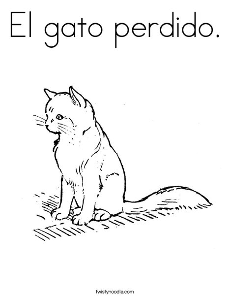 Cute Cat Coloring Page