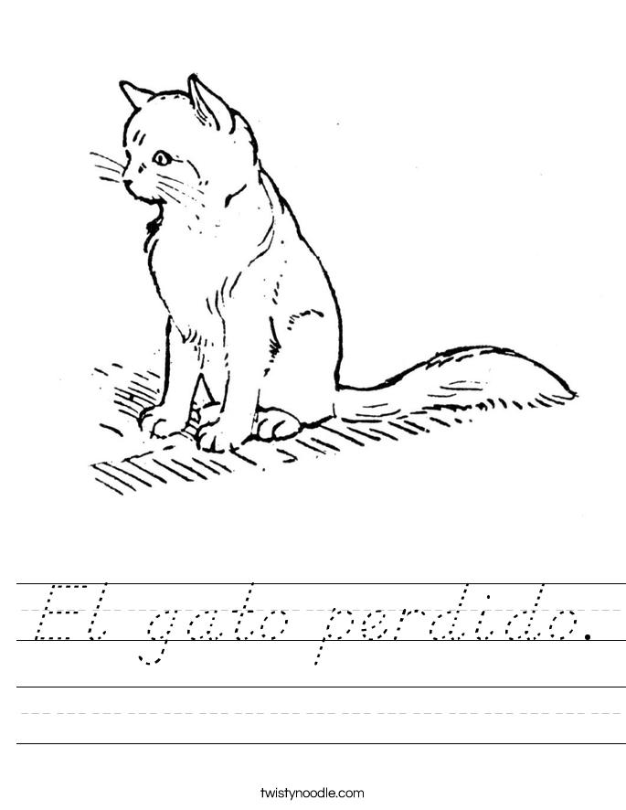El gato perdido. Worksheet