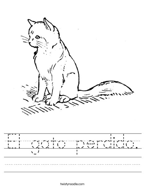 Cute Cat Worksheet