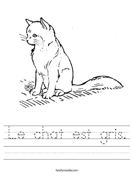 Cute Cat Worksheet