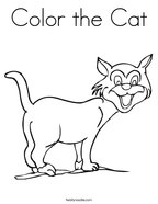 Color the Cat Coloring Page