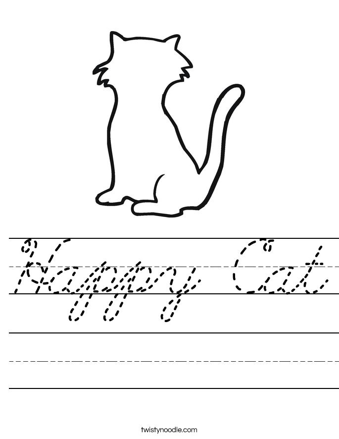 Happy Cat Worksheet