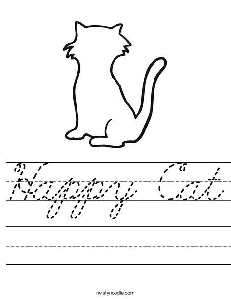 Blank Cat Worksheet