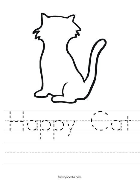 Blank Cat Worksheet