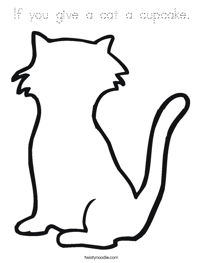 If you give a cat a cupcake. Coloring Page