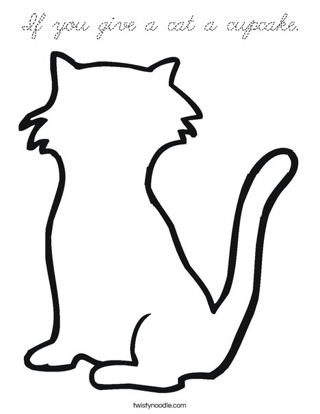 Blank Cat Coloring Page