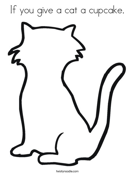 blank kitten coloring book pages - photo#4