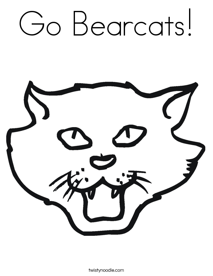 Go Bearcats! Coloring Page