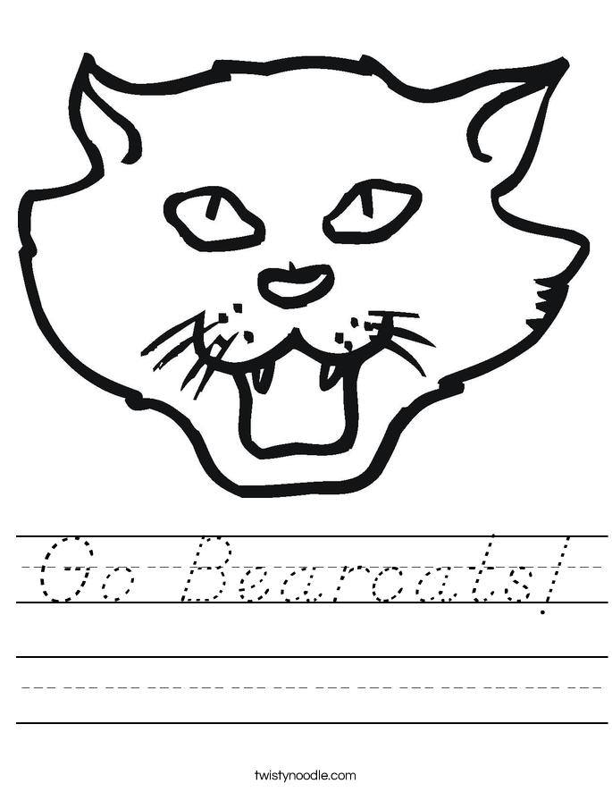 Go Bearcats! Worksheet