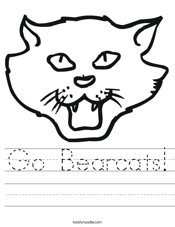 Go Bearcats! Worksheet