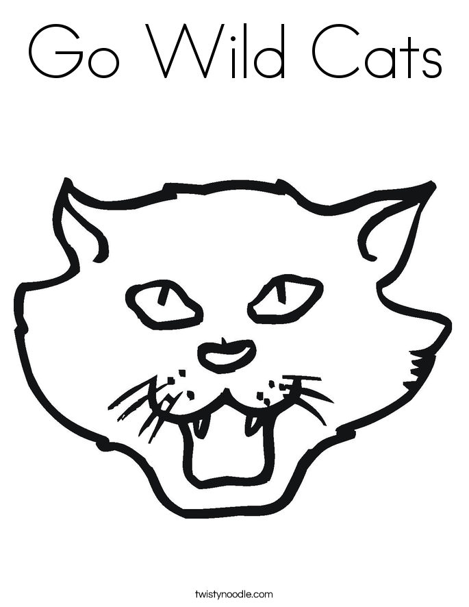 Go Wild Cats Coloring Page