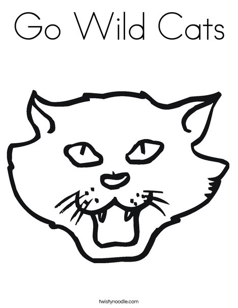 cat head coloring page