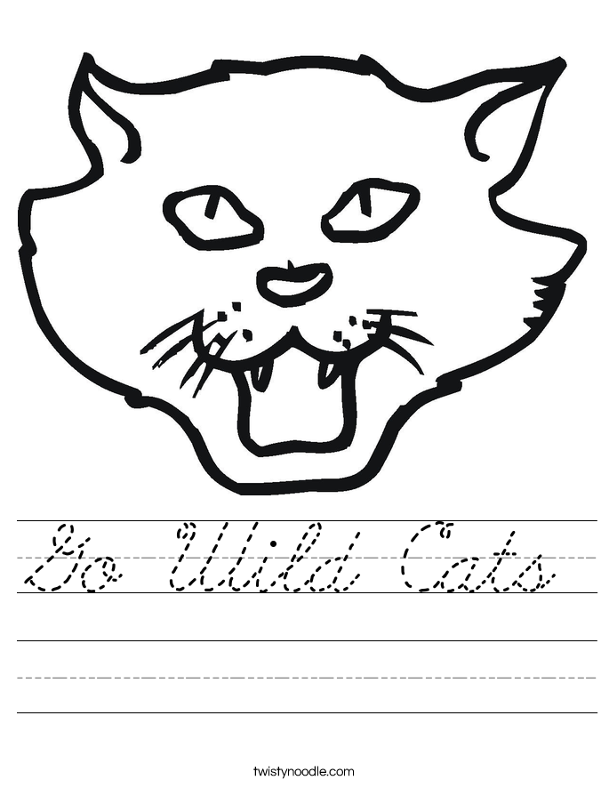 Go Wild Cats Worksheet