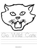Go Wild Cats Worksheet