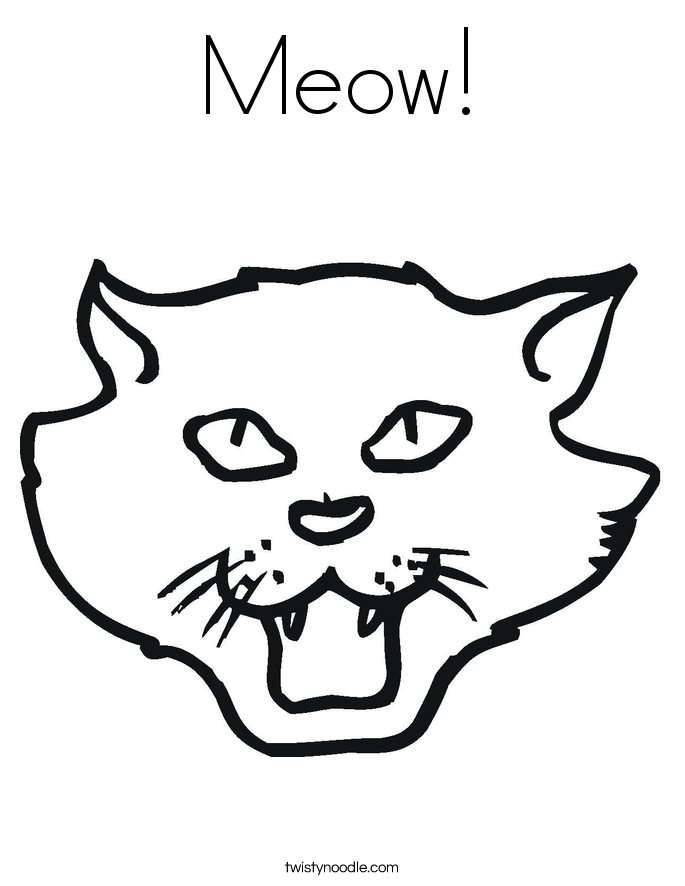 Meow! Coloring Page