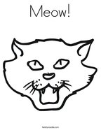 Meow Coloring Page