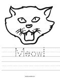 Meow! Worksheet