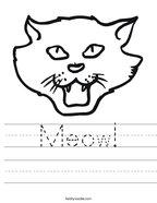 Meow Handwriting Sheet
