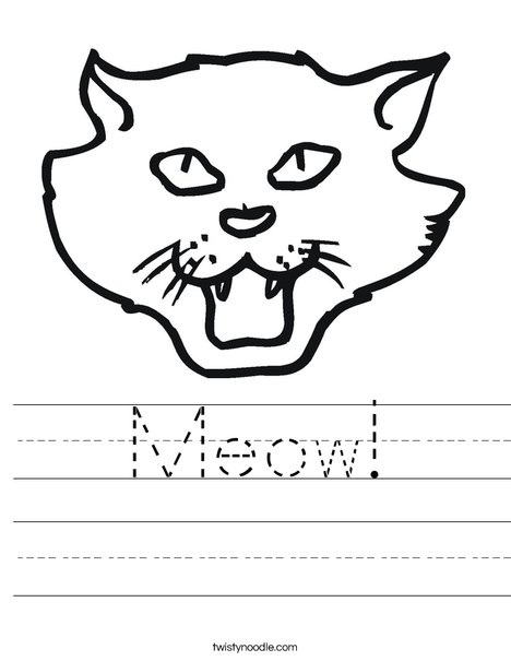 Cat Head Worksheet